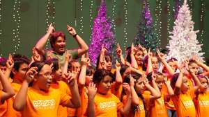 Expanding Horizons kids on stage