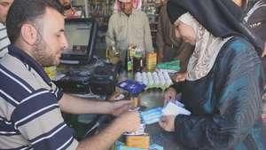 Um Shadi Bardan using WFP food vouchers