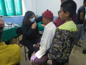 Eye exam at Rajbash