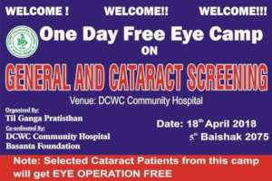 Eye Camp at Rajbash