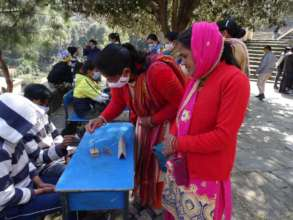 Parents at Science day celebration
