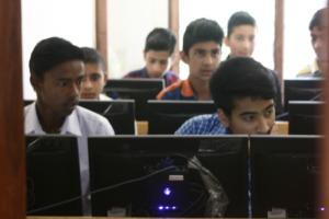 Computer class in progress
