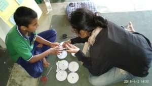 Maths workshop at Aarohi Bal Sansar