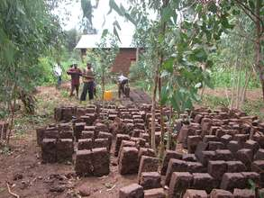 Bricks used to build a house
