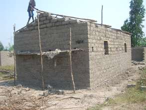 A house ready to be  roofed