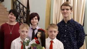 Children in the family of Sergey and Julia