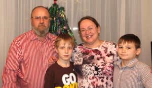 Velichko family with Alexey and Danil