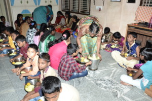 Best charity india feeding delicious food to kids