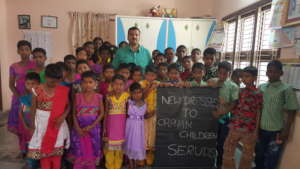Clothes donation for children in need at seruds