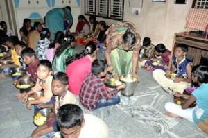 Food sponsorship to poor orphans Seruds orphanage