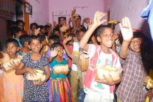 OrphanChildren in Orphanage expressing joyfulness
