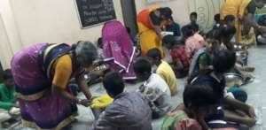 Special lunch to poor children orphanage in india