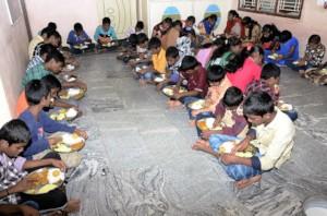 orphan children in orphanage kurnool feeding child