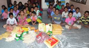 Monthly Donations for Food Provisions of Orphanage