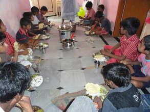 Meal Sponsorship for Children in Kurnool Orphanage