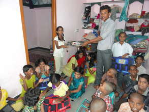 bags donation to orphan children in andhra pradesh