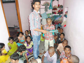 donation of school bags to orphan children in ap