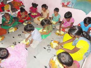 Girl Child food sponsorship in Orphanage Kurnool