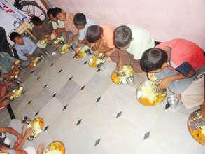 food sponsorship to orphan children