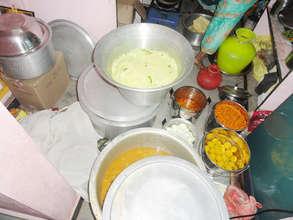 kitchen food preparing in orphan home