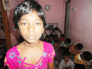 orphan girl child watiing for sponsorship