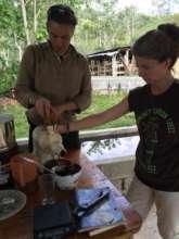 Grinding twice into cocoa liquor... pure chocolate