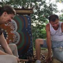 Jessica and Eduardo working in Tree Nursery