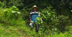 Jose with his 1 year old Tree
