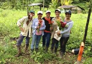 Women Tree Planters on Omar's Farm 2013