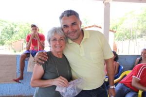 Eliana and a teacher from Ponte Alta do Tocantins