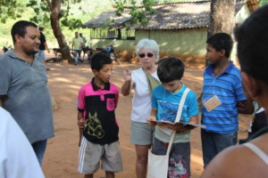 Eliana and the children of the community