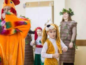 Nikita in a school play