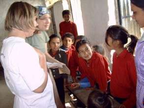 Students Interaction with volunteers