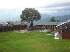 A view of the newly constructed school blocks