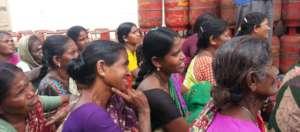 Women attending information session
