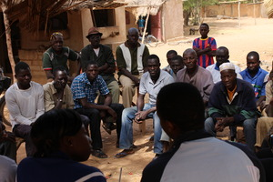 GWGL Team Listening to Villagers Wanting RCBasin