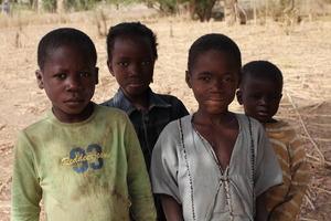 Four School Children