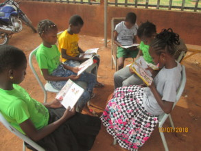 Small group reading, in summer reading camp