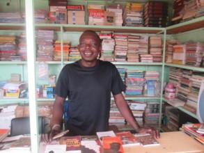 Tiaho at book kiosk