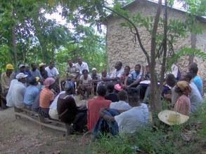 Grassroots meeting in rural Haiti