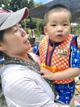 HyungJun w/ his house mom during the camping trip