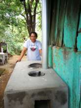 Candelaria proud Promoter Aurora with stove