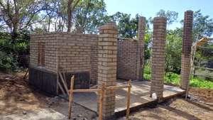 Pressed Earth Block Walls