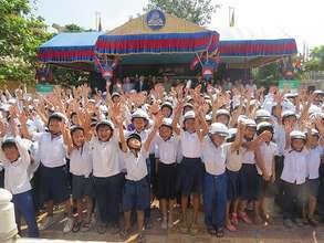 Helmets for Kids kick-off ceremony in Cambodia