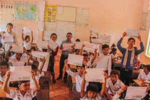 Students in Cambodia spread the #SlowDown message.
