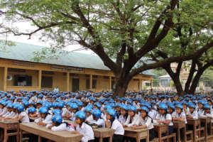 Bantheay Primary School receives over 1000 helmets