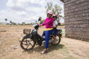 Helmets save lives on Cambodia's roads