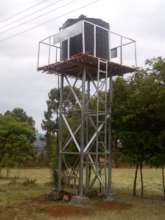 The elevated water tower to enhance distribution