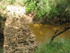 Recently constructed earthdam to prevent siltation