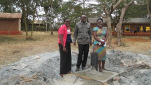 The site of the borehole.